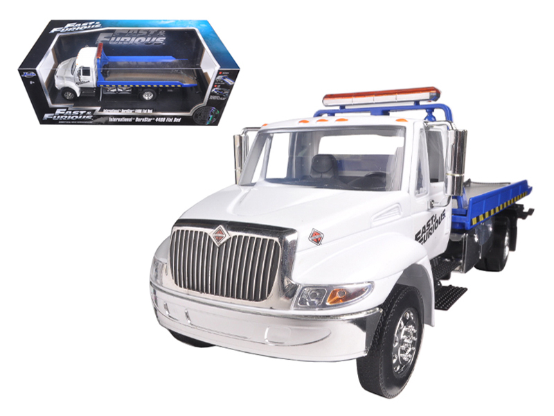 """Fast & Furious"" 1/24 International Duraster 4400 Flatbed-White"