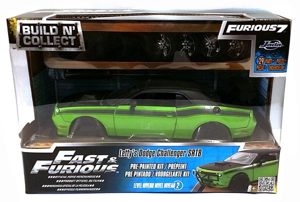 """Fast & Furious 7"" 1/24 Letty's Dodge Challenger SRT8 PrePainted"