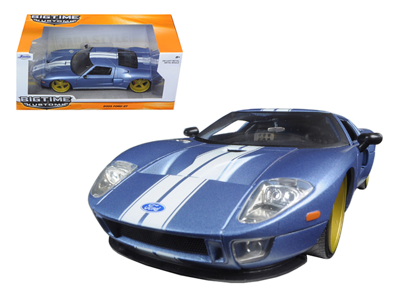 """BIGTIME Kustoms"" 1/24 2005 Ford GT - Primer Pearl Blue"