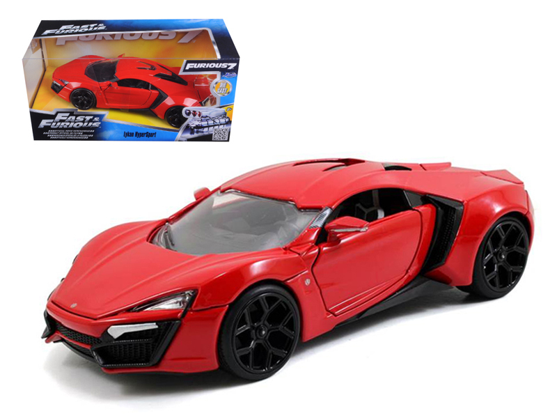 """Fast & Furious"" 1/24 Lykan Hypersport - Glossy Red"