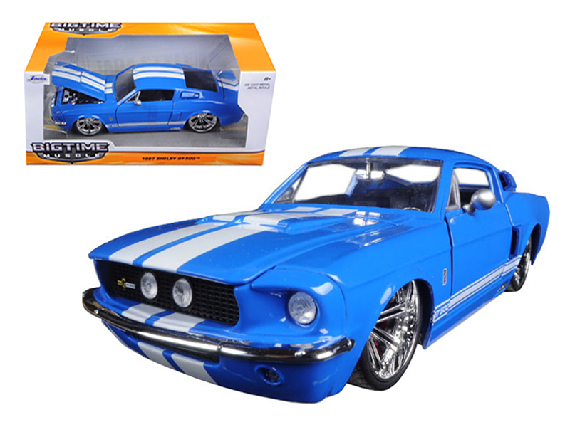 """BIGTIME Muscle"" 1/24 1967 Shelby GT500 - 3005C Blue"