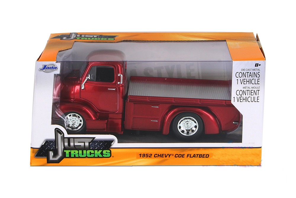 """Just Trucks"" 1/24 1952 Chevrolet COE Flatbed - Candy Red"