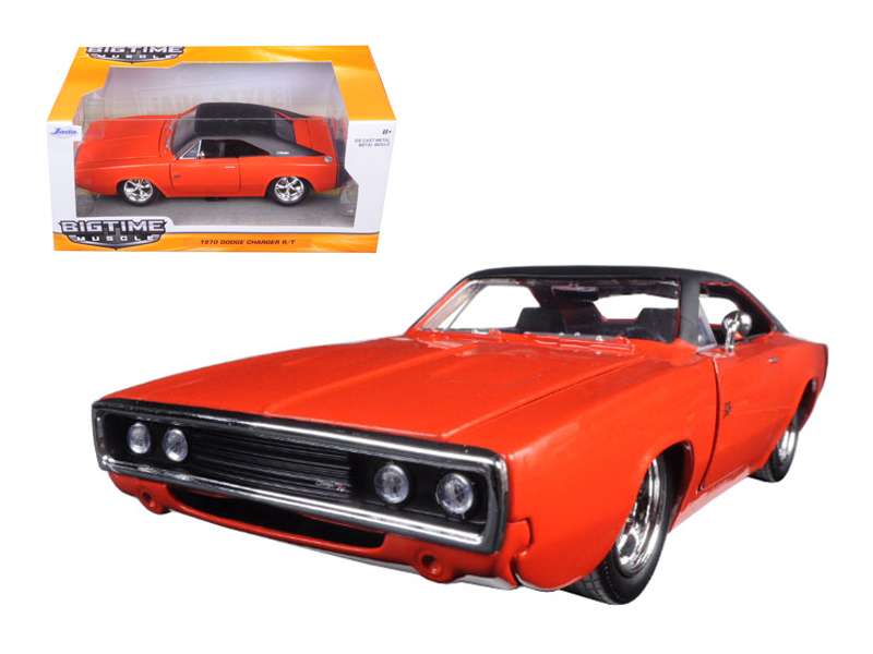 """BIGTIME Muscle"" 1/24 1970 Dodge Charger R/T Hemi Orange (166C)"