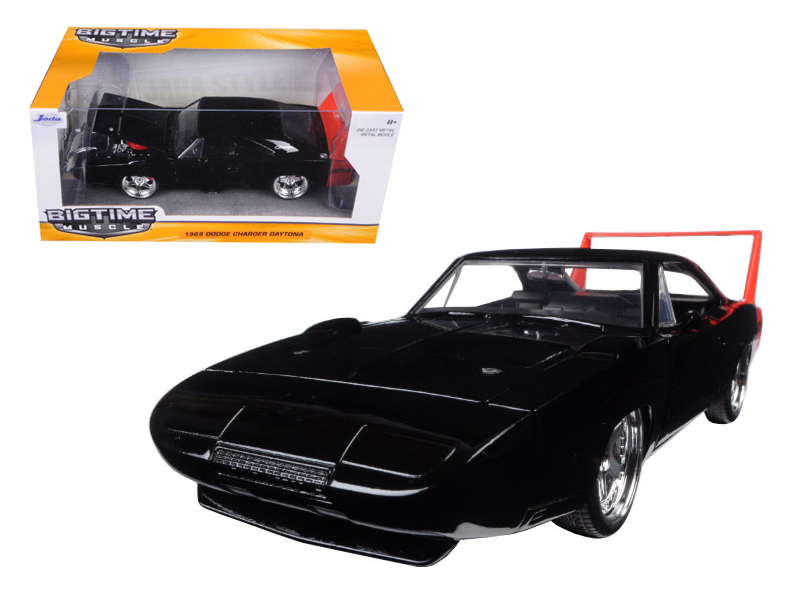 """BIGTIME Muscle"" 1/24 1969 Dodge Charger Daytona - Glossy Black"