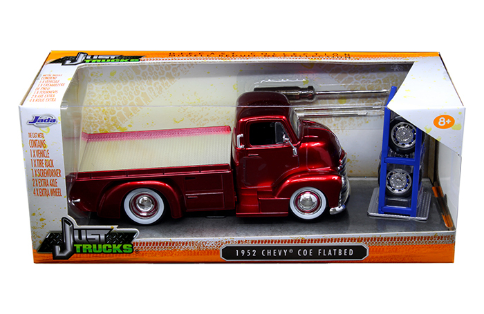 """Just Trucks"" 1/24 1952 Chevy COE Flatbed with Extra Wheels/Rack"