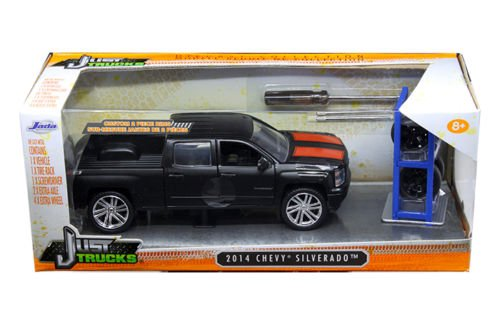 """Just Trucks"" 1/24 2014 Chevy Silverado with Extra Wheels/Rack -"