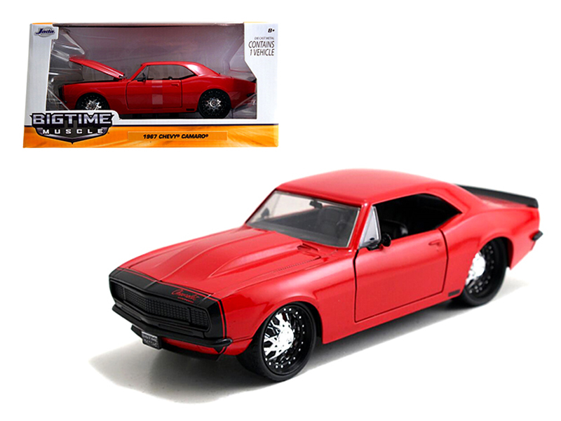 """BIGTIME Muscle"" 1/24 1967 Chevy Camaro - Glossy Red"