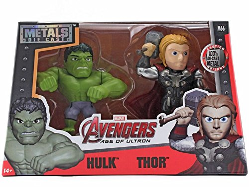 "Metals Marvel 4"" Figure Twin Pack Hulk & Thor"