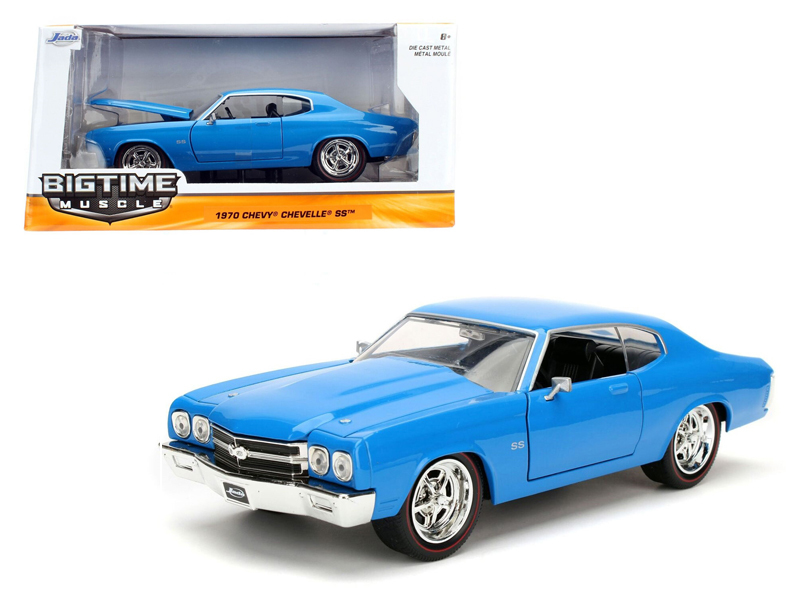 """BIGTIME Muscle"" 1/24 1970 Chevy Chevelle SS - 3005C Blue"