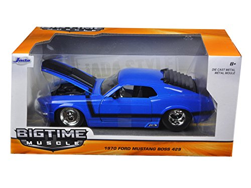"""BIGTIME Muscle"" 1/24 1970 Ford Mustang Boss 429 - 3005C Blue"