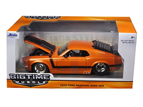 """BIGTIME Muscle"" 1/24 1970 Ford Mustang Boss 429 - Metallic Oran"