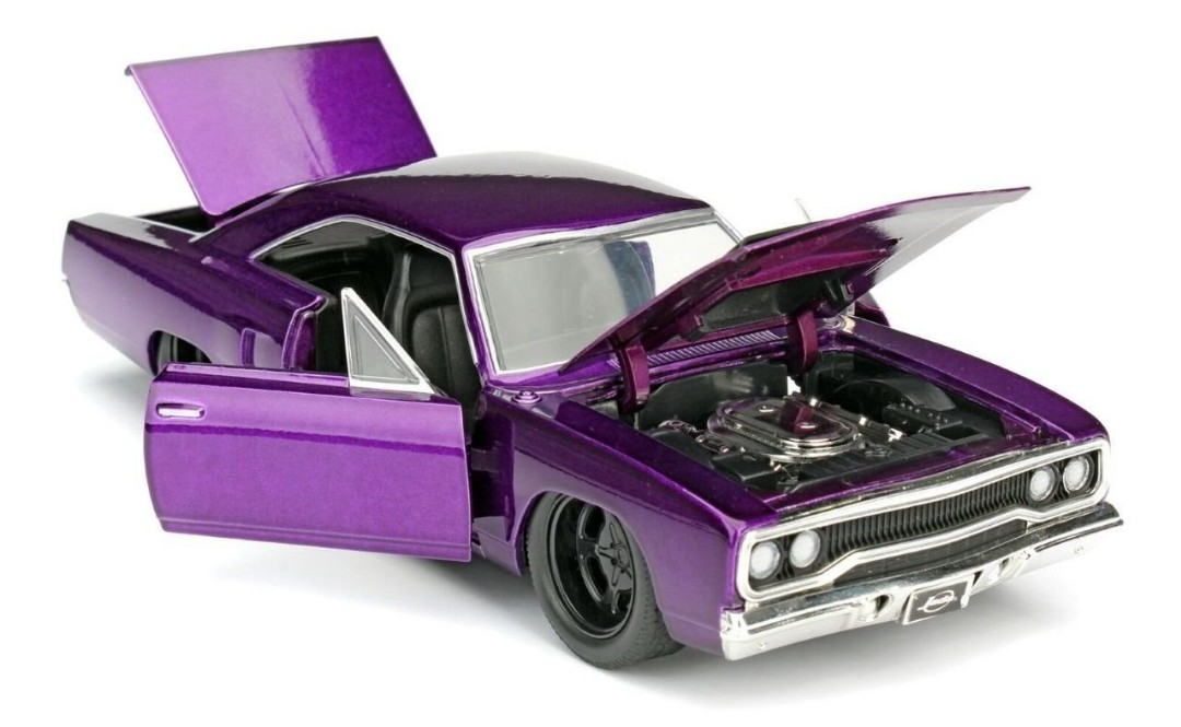 """BIGTIME Muscle"" 1/24 1970 Plymouth Road Runner - Candy Purple"