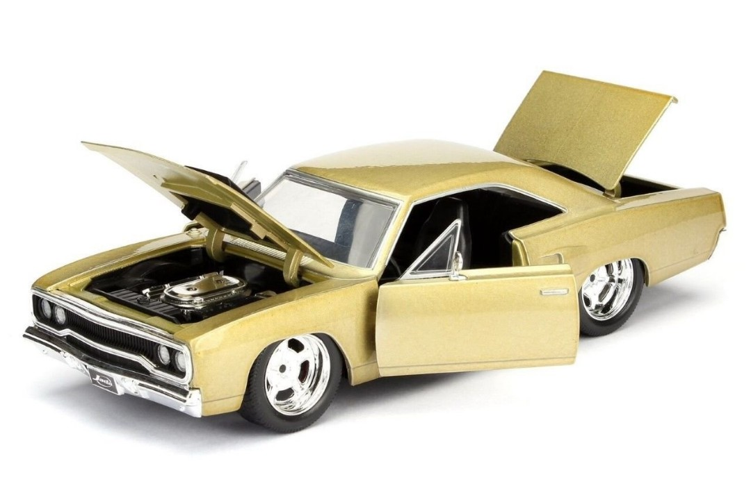 """BIGTIME Muscle"" 1/24 1970 Plymouth Road Runner - Champagne"