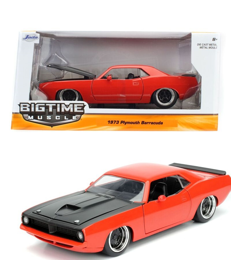 """BIGTIME Muscle"" 1/24 1973 Plymouth Barracuda - Hemi Orange"