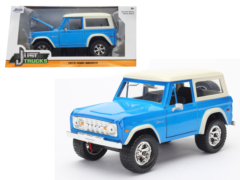 """Just Trucks"" 1/24 1973 Ford Bronco Hardtop - Glossy Blue"