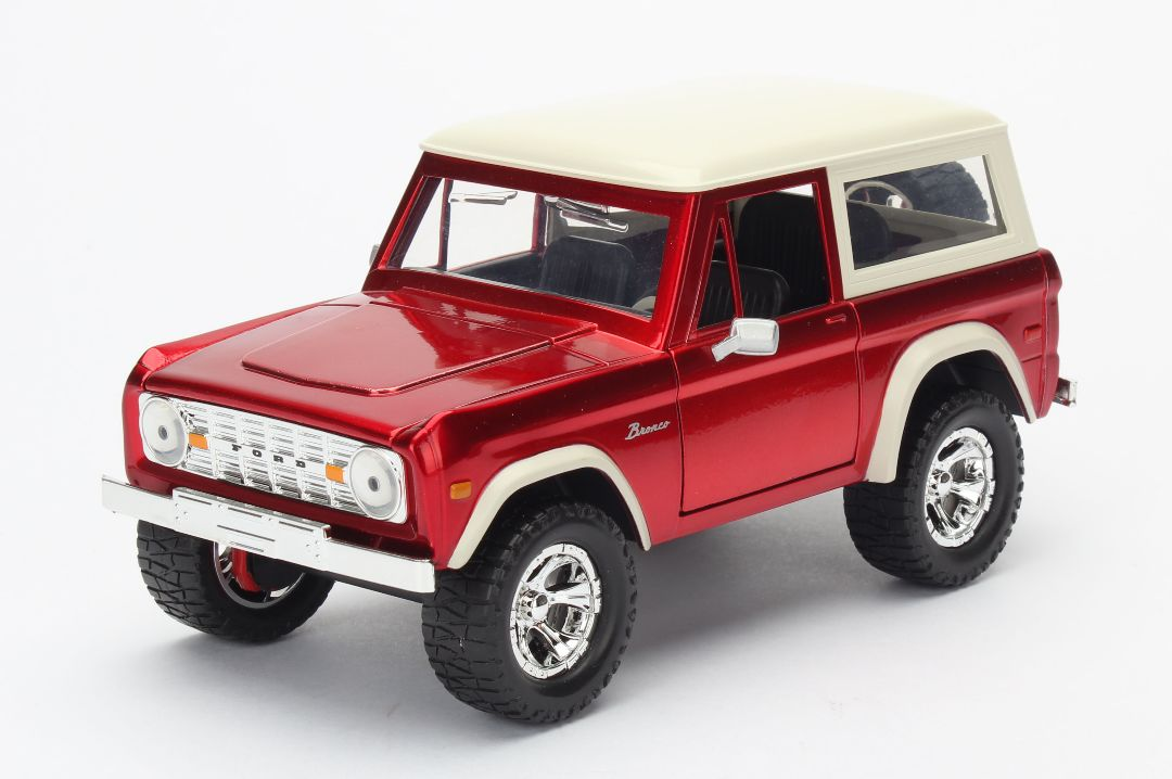 """Just Trucks"" 1/24 1973 Ford Bronco - Candy Red"