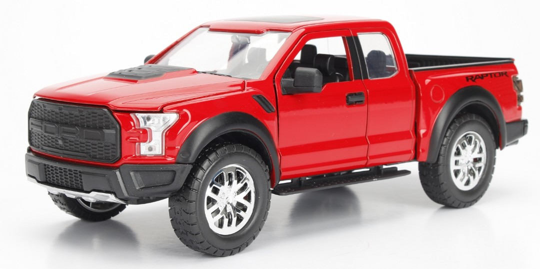 """Just Trucks"" 1/24 - 2017 Ford F-150 Raptor - Glossy Red"