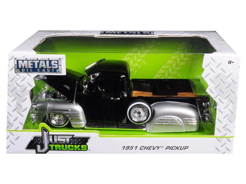 """Just Trucks"" 1/24 1951 Chevy Pickup - Glossy Black w/ Glossy Si"