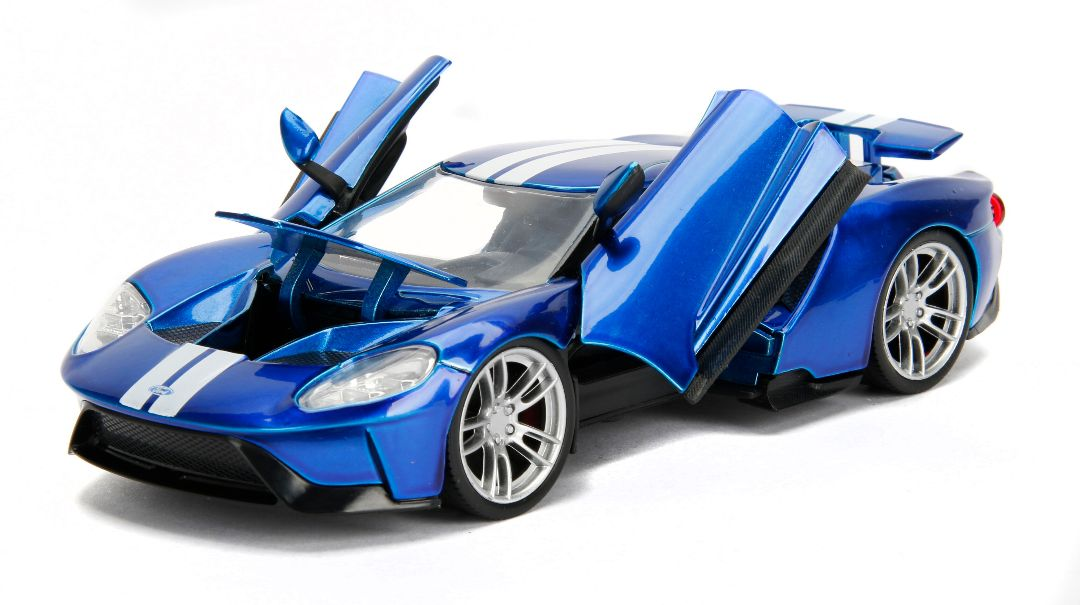 """BIGTIME Muscle"" 1/24 2017 Ford GT - Candy Blue"