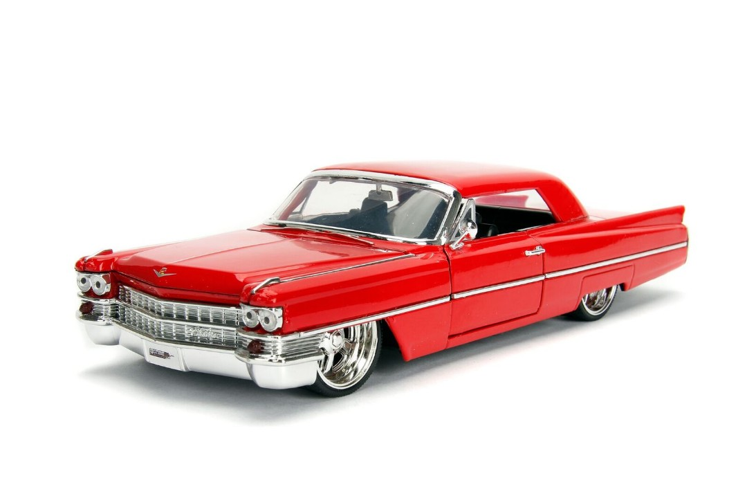 """BIGTIME Kustoms"" 1/24 1963 Cadillac - Red"