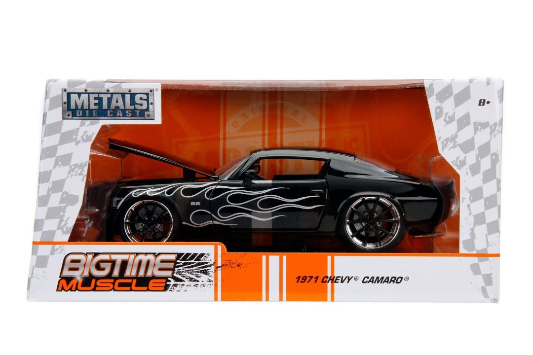 """BIGTIME Muscle"" 1/24 1971 Chevy Camaro - Glossy Black"