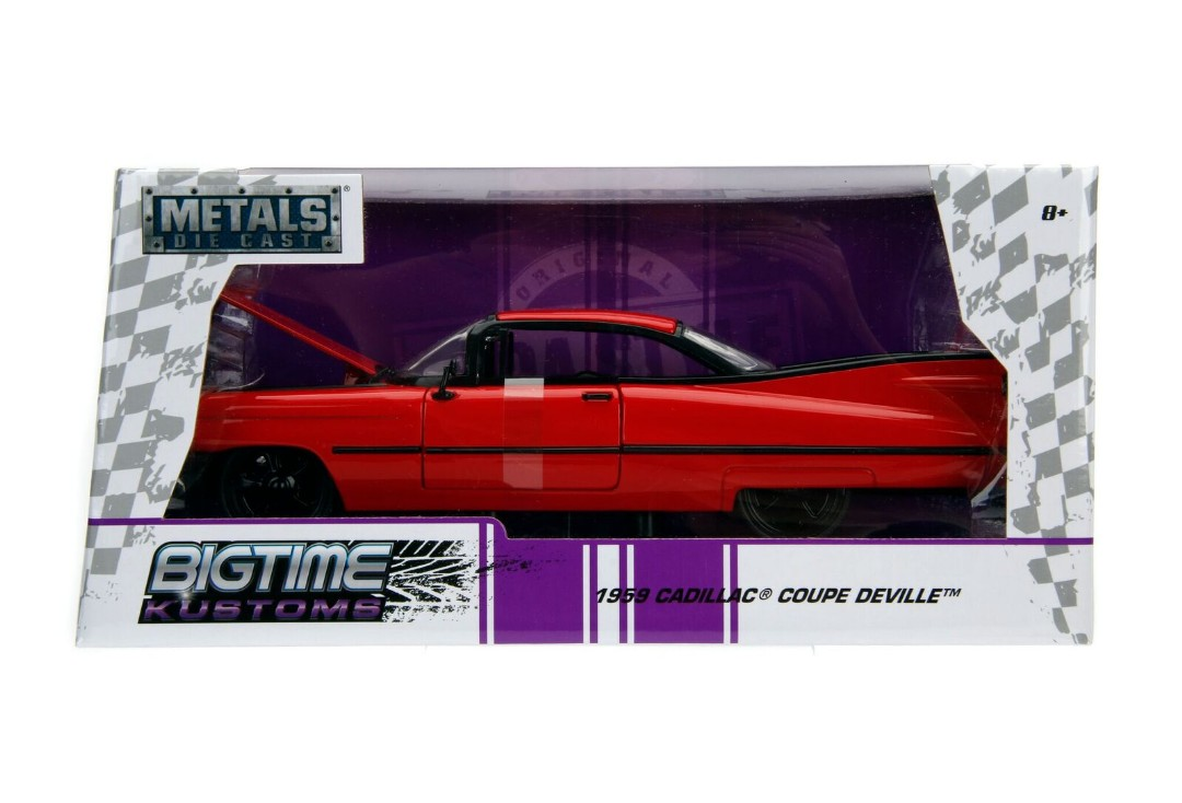 """BIGTIME Kustoms"" 1/24 1959 Cadillac DeVille - Red"