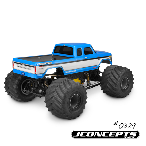 JConcepts 1979 Ford F-250 SuperCab Monster Truck Body w/Bumpers