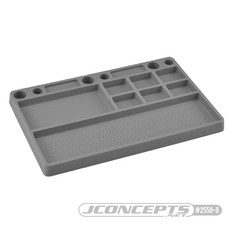 JConcepts Parts Tray, Rubber Material - Gray