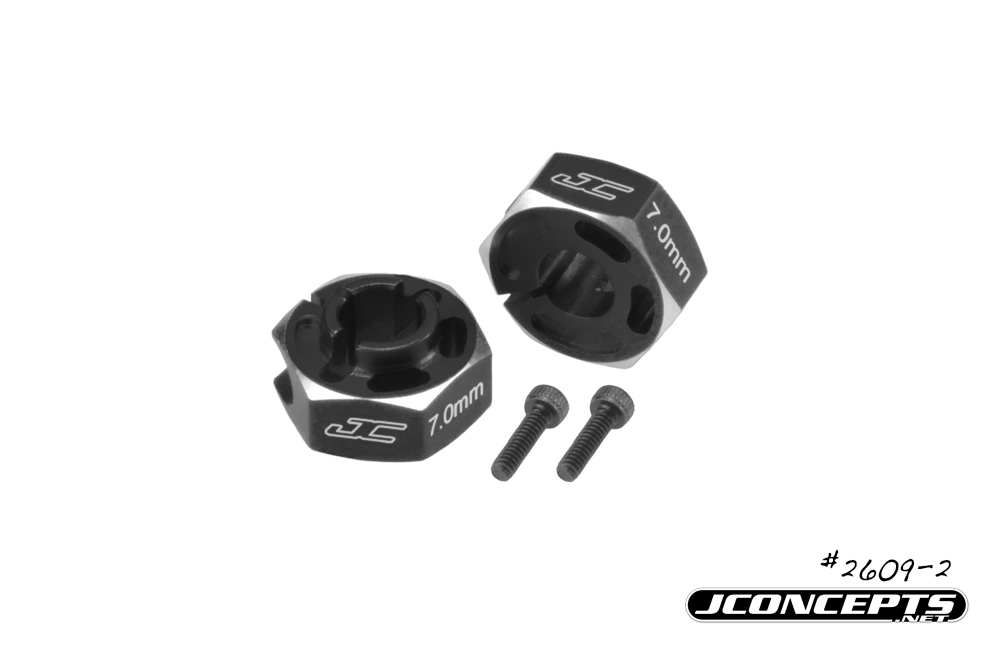 JConcepts - B6 | B6D 7mm light-weight hex adaptor - black