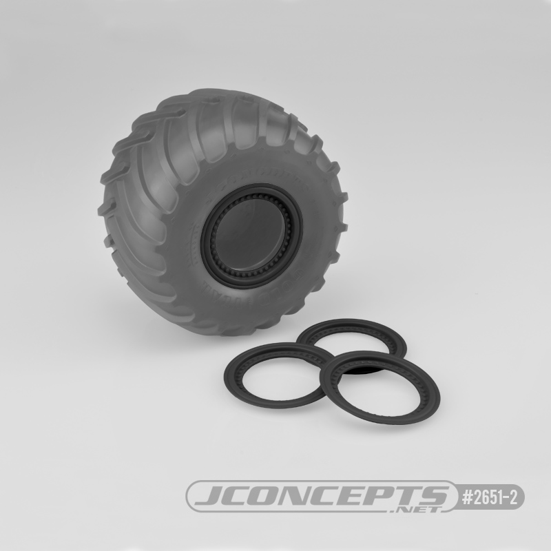 JConcepts Tribute wheel mock beadlock rings - black - glue-on