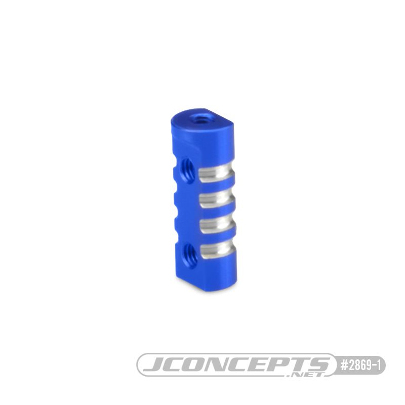 JConcepts B74 Aluminum floating servo mount post, blue