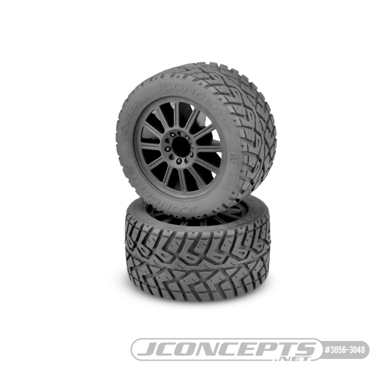 JConcepts G-Locs - yellow compound - black wheel - (pre-mounted)