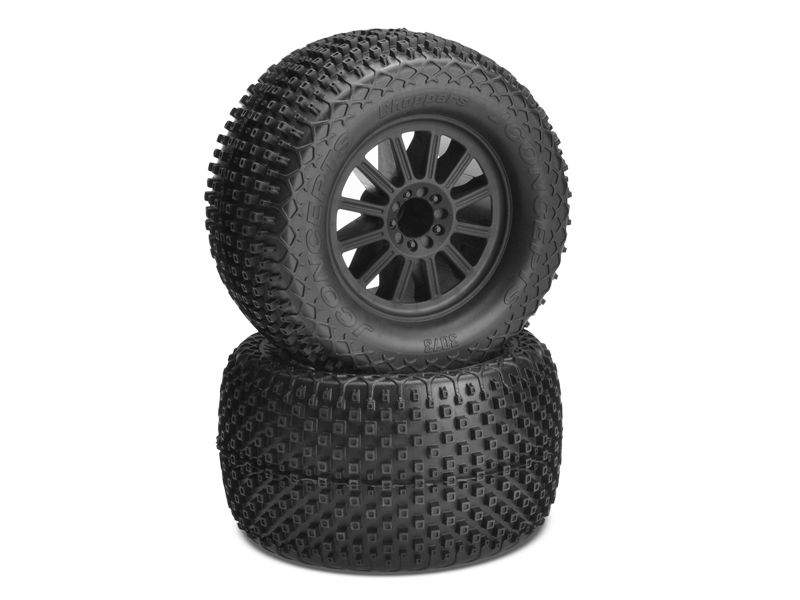 JConcepts Choppers - blue compound - black wheel - (pre-mounted)