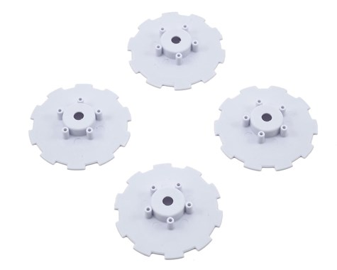 JConcepts Hazard - Losi SCT-E, 22 SCT wheel dish - 4pc. (white)