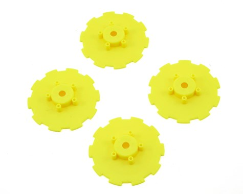 JConcepts Hazard - Losi SCT-E, 22 SCT wheel dish - 4pc. (yellow)