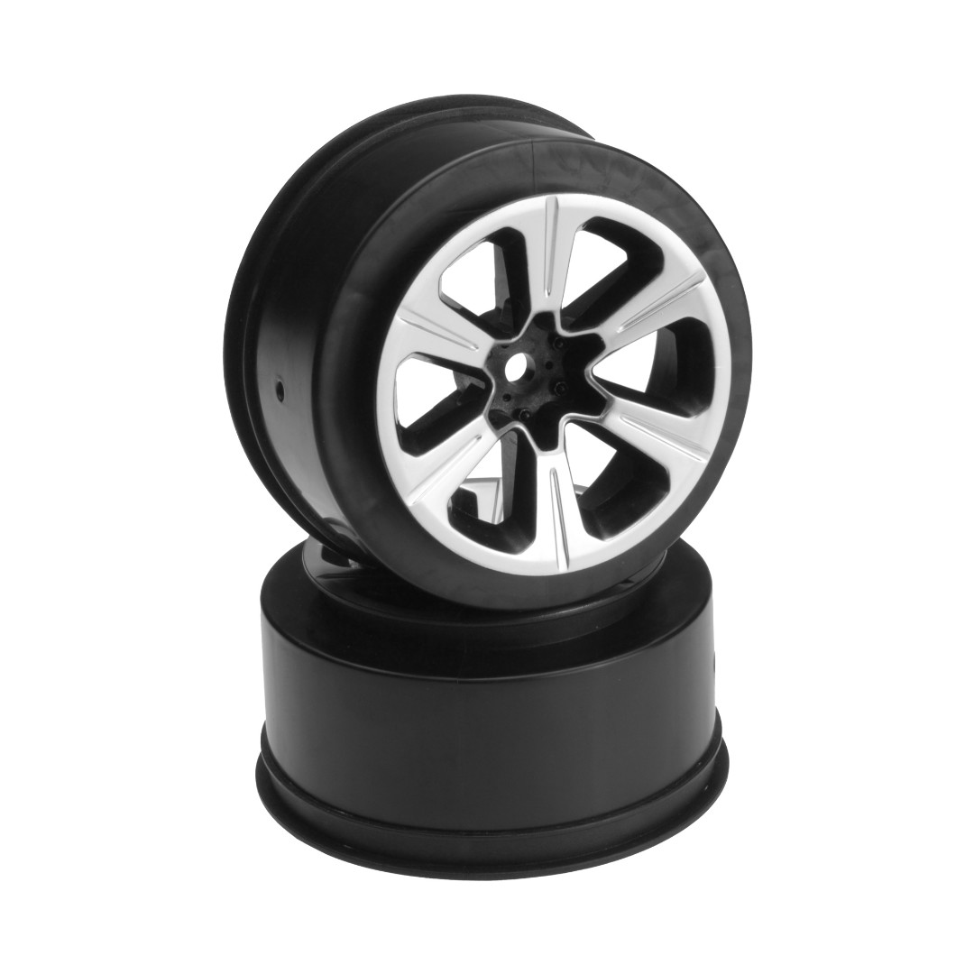 JConcepts Hustle - Slash front wheel - (black w/ silver face pla