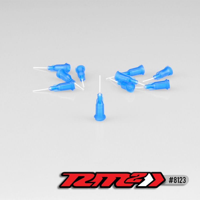 JConcepts - Glue tip needle, thin bore - Blue (10)