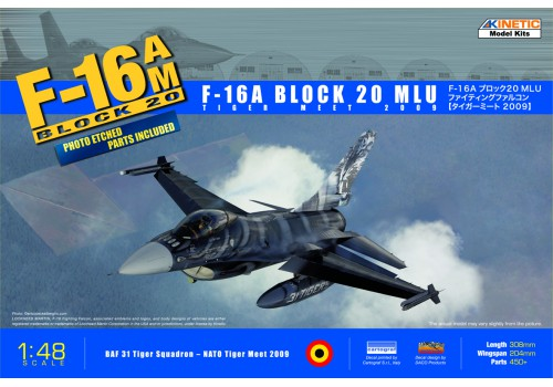 Kinetic 1/48 F-16A TigerMeet 2009 (DACO decal design)