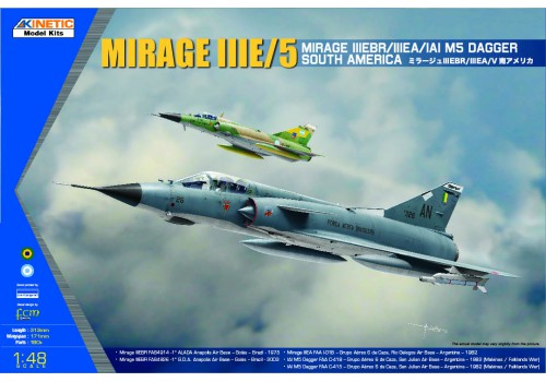 Kinetic 1/48 South American Mirage III/V Dagger/Finger