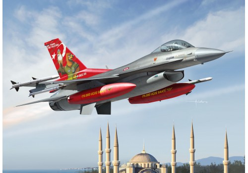 Kinetic 1/48 Turkish Air Force F-16C 143rd squadron's 20th anniv