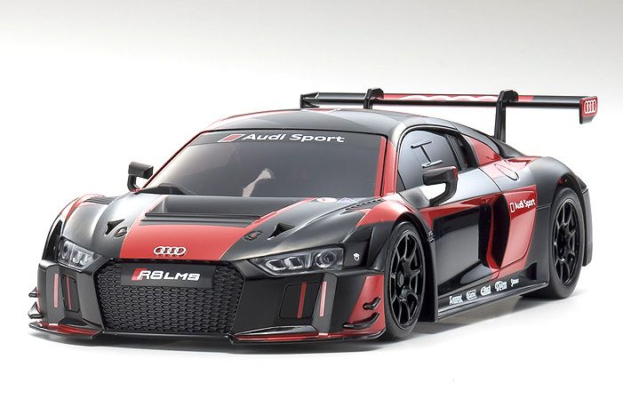Kyosho Black/Red 2016 Audi R8 LMS Autoscale body. Fits MR-03 MM