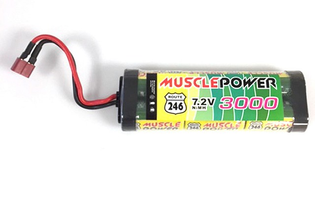 Kyosho MUSCLE POWER 3000 Ni-MH Battery/S Plug