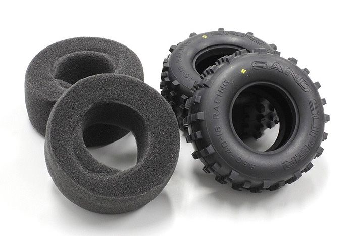 Kyosho Medium compound rear tires and inserts for Scorpion 2014