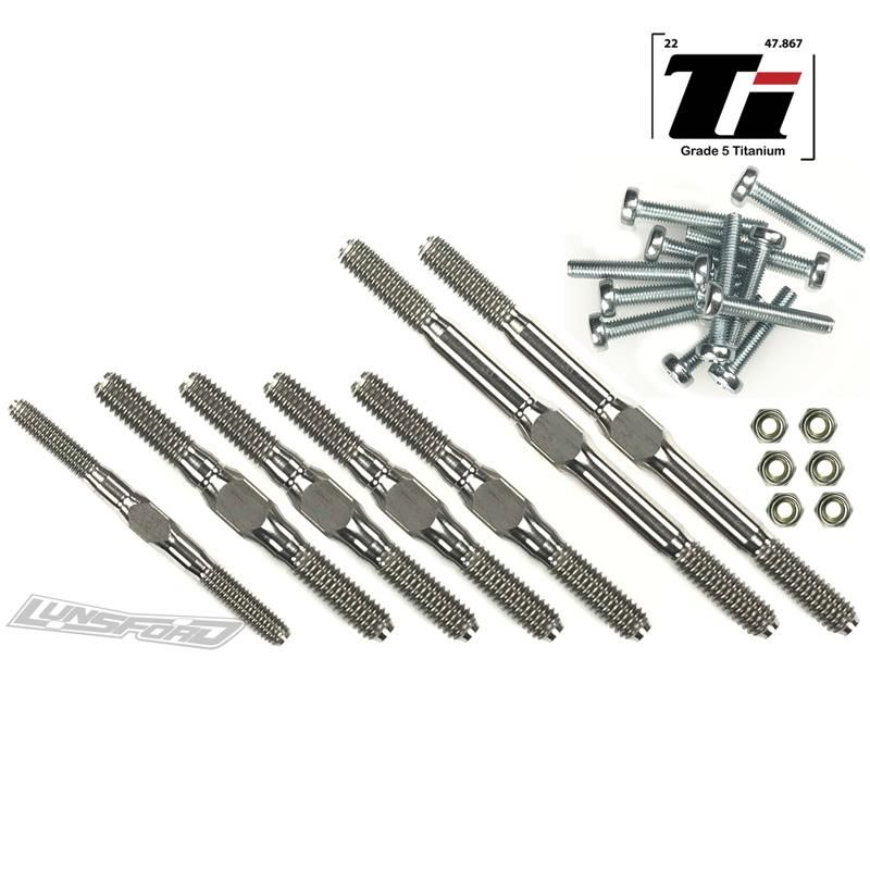 Lunsford 3/4mm Titanium Turnbuckle Kit for ALL Traxxas Slash 2wd