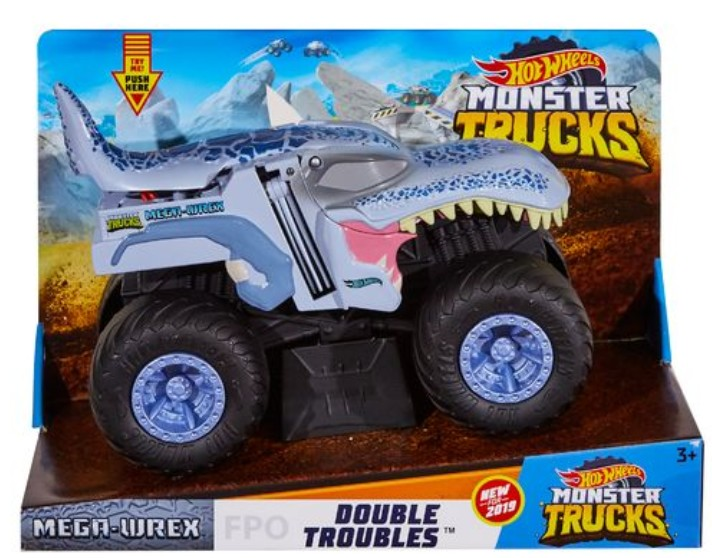 Hot Wheels Monster Trucks 1/24 Transforming Trucks (2 Pkg/Box)