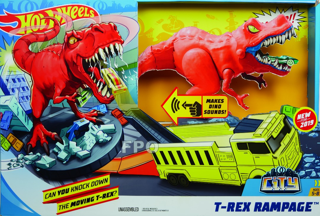 Hot Wheels City T-Rex Rampage (3 Pkg/Box)