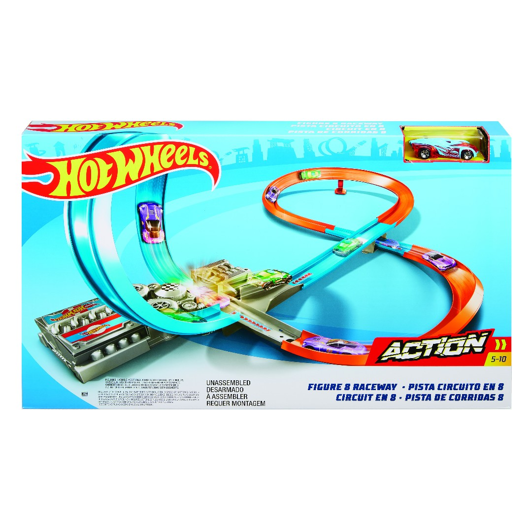 Hot Wheels Figure 8 Raceway (4 Pkg/Box)