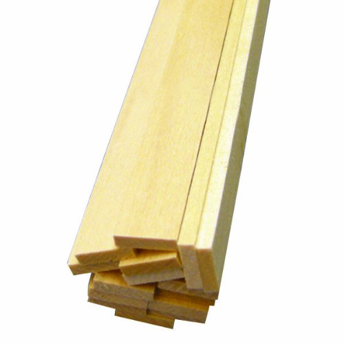 "Midwest Basswood Strip 1/8 x 1/2 x 24"" (15)"