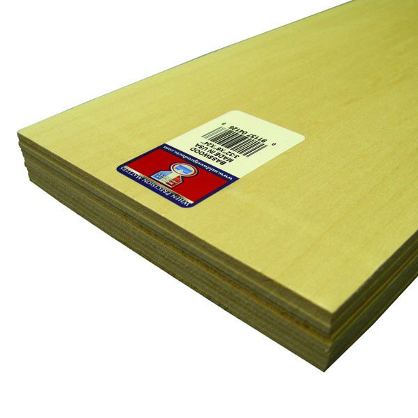 "Midwest Basswood Sheet 3/32 x 6 x 24"" (10)"