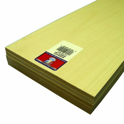 "Midwest Basswood Sheet 1/4 x 6 x 24"" (5)"